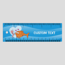 Fish and Bait in Love 6 inch Ruler