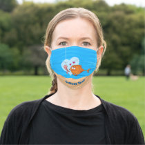 Fish and Bait in Love Adult Cloth Face Mask
