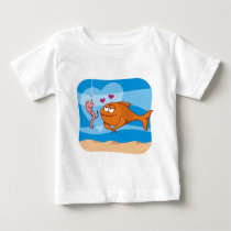 Fish and Bait in Love Baby T-Shirt