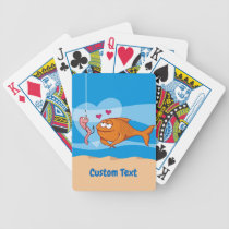 Fish and Bait in Love Bicycle Playing Cards