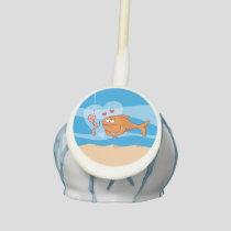 Fish and Bait in Love Cake Pops