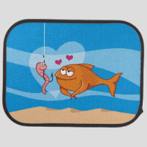 Fish and Bait in Love Car Floor Mat