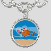 Fish and Bait in Love Charm Bracelet