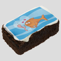 Fish and Bait in Love Chocolate Brownie