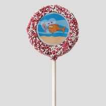 Fish and Bait in Love Chocolate Dipped Oreo Pop