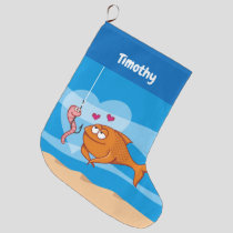 Fish and Bait in Love Christmas Stocking