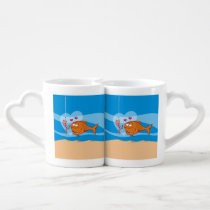 Fish and Bait in Love Coffee Mug Set