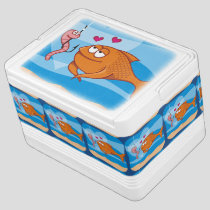 Fish and Bait in Love Cooler