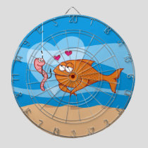 Fish and Bait in Love Dart Board