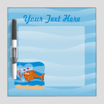 Fish and Bait in Love Dry-Erase Board