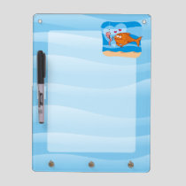 Fish and Bait in Love Dry Erase Board