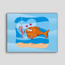 Fish and Bait in Love Envelope