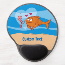 Fish and Bait in Love Gel Mouse Pad
