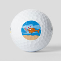 Fish and Bait in Love Golf Balls