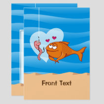 Fish and Bait in Love Invitation