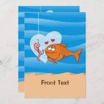 Fish and Bait in Love Invitation