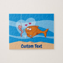 Fish and Bait in Love Jigsaw Puzzle