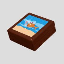 Fish and Bait in Love Keepsake Box