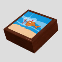 Fish and Bait in Love Keepsake Box