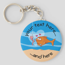 Fish and Bait in Love Keychain