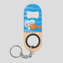 Fish and Bait in Love Keychain Bottle Opener