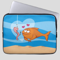 Fish and Bait in Love Laptop Sleeve