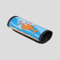 Fish and Bait in Love Luggage Handle Wrap