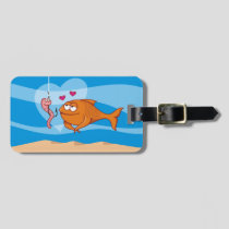 Fish and Bait in Love Luggage Tag