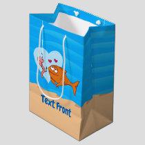 Fish and Bait in Love Medium Gift Bag
