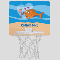 Fish and Bait in Love Mini Basketball Hoop