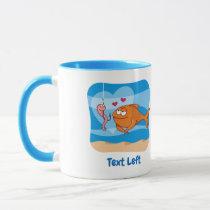Fish and Bait in Love Mug