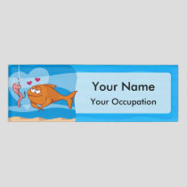 Fish and Bait in Love Name Tag