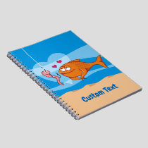 Fish and Bait in Love Notebook