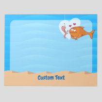 Fish and Bait in Love Notepad