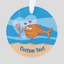 Fish and Bait in Love Ornament