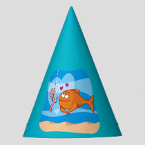 Fish and Bait in Love Party Hat