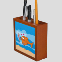 Fish and Bait in Love Pencil Holder