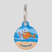 Fish and Bait in Love Pet Name Tag