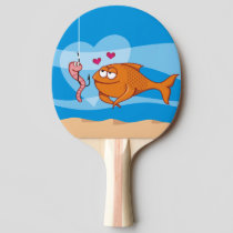 Fish and Bait in Love Ping-Pong Paddle