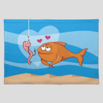 Fish and Bait in Love Placemat
