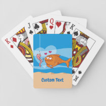 Fish and Bait in Love Playing Cards