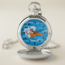 Fish and Bait in Love Pocket Watch