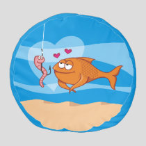 Fish and Bait in Love Pouf