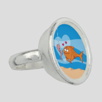 Fish and Bait in Love Ring