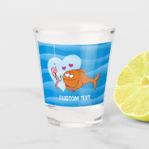 Fish and Bait in Love Shot Glass