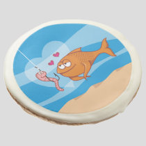 Fish and Bait in Love Sugar Cookie