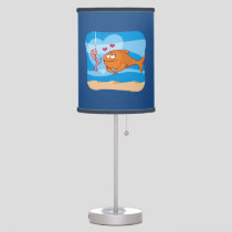 Fish and Bait in Love Table Lamp