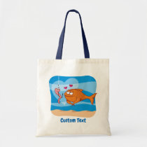Fish and Bait in Love Tote Bag