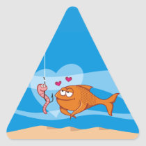 Fish and Bait in Love Triangle Sticker