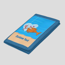 Fish and Bait in Love Trifold Wallet